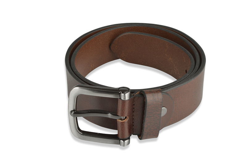 Men's Classic Brown Leather Jeans Belt