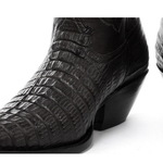 Croc Effect Calf Length Cowboy Boots