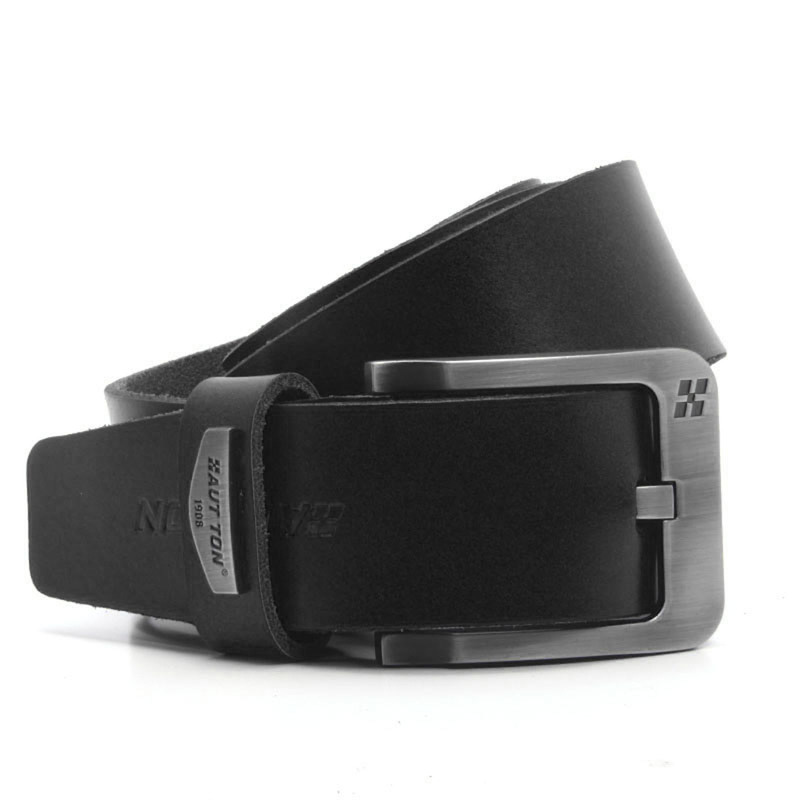 Men's Casual Black Leather Belt