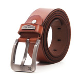 Men's Casual Tan Leather Belt