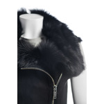 Ladies Black Zipped Toscana Shearling Sheepskin Gilet