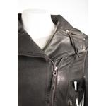 Ladies Black  Stud Detail Slim Fit Biker Style Leather Jacket