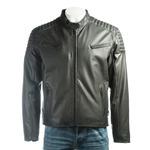 Men's Black Soft Matt Racer Style Leather Jacket