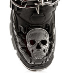 Chunky Boots with Chained Buckles and Spikes