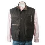 Men's Brown Nubuck Outdoor Leather Waistcoat