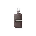 Hautton Leather Black Contrast Zip Around Key Case