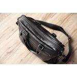 Woodland Leather Black Landscape Tote Style Bag