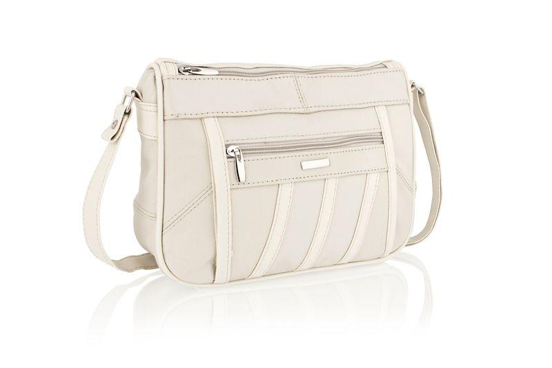 Lorenz Beige Cross Body Bag With Adjustable Strap