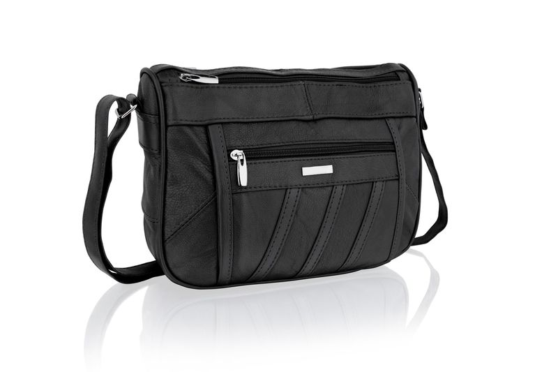 Lorenz Black Cross Body Bag With Adjustable Strap