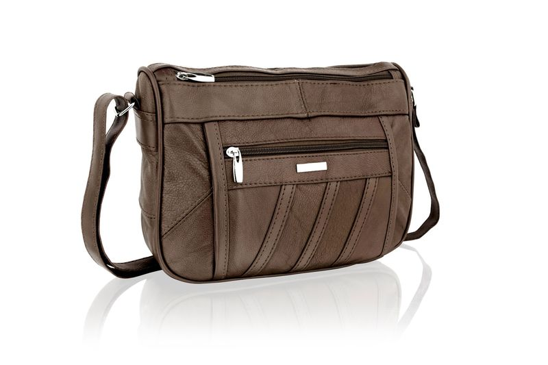 Lorenz Brown Cross Body Bag With Adjustable Strap