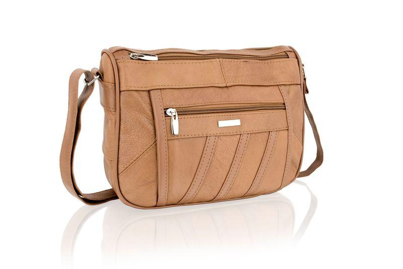 Lorenz Tan Cross Body Bag With Adjustable Strap