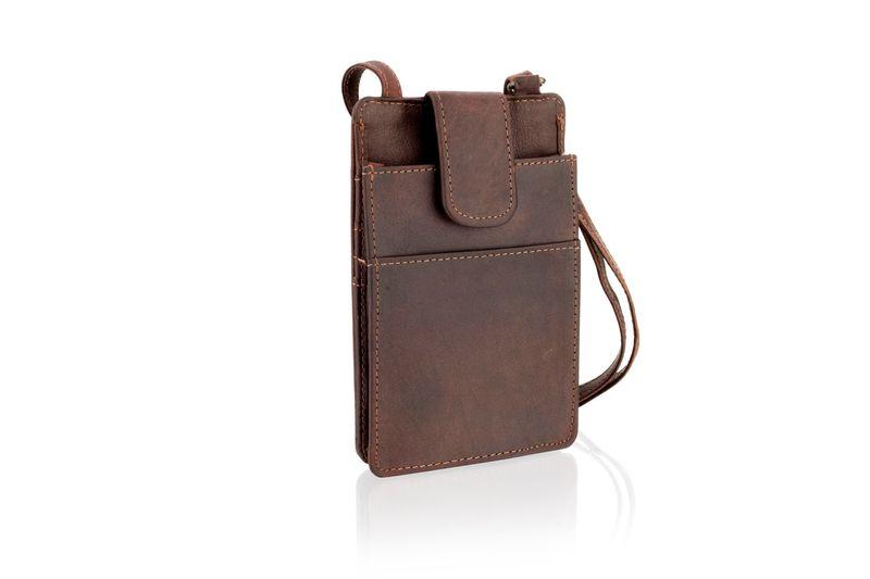 Woodland Leather Burgundy Portrait Small Cross Body Bag