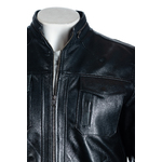 Men's Black Classic Pocketed Leather Jacket