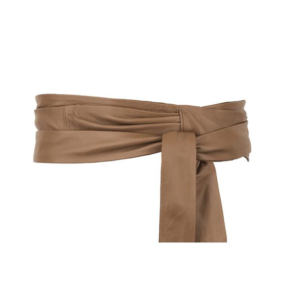 Square bl001 leather ladies belts tan 1 1