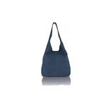 Woodland Leather Navy Suede Shopping Bag With Matching Suede Purse