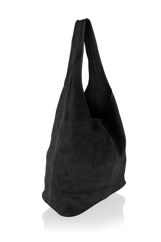 Woodland Leather Black Suede Shopping Bag With Matching Suede Purse