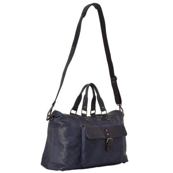 Square ashwood large leather vintage wash travel bag navy 1337 p1314 5729 image