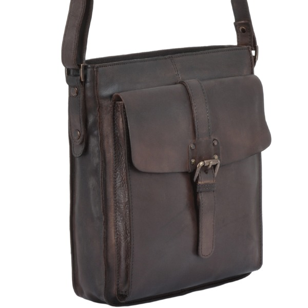 Square ashwood vintage wash leather a4 side bag brown 7994 p1342 5967 image
