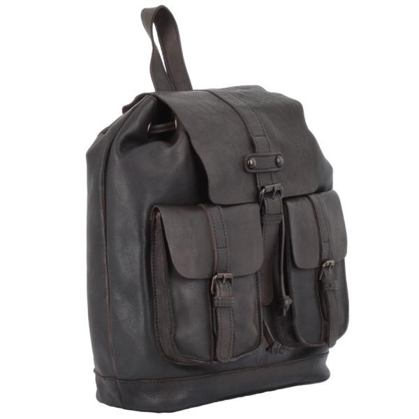 Square ashwood vintage wash leather rucksack brown 7990 p1338 5959 image