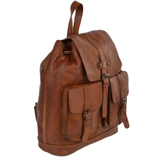 Square ashwood vintage wash leather rucksack rust 7990 p610 2475 image