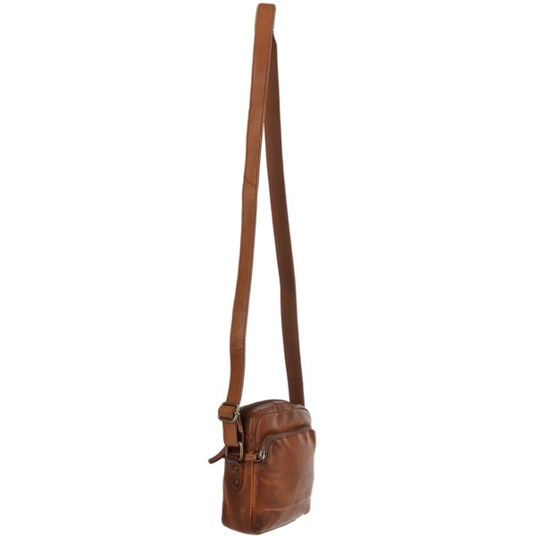 Square ashwood small vintage wash leather travel bag rust 1332 p1224 5258 image