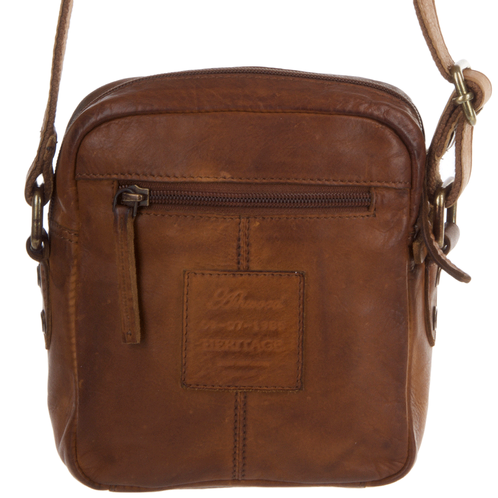2b0856b5e681 ... Ashwood Small Cognac Vintage Wash Leather Travel Bag