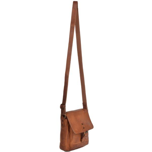 Square ashwood small vintage wash leather travel bag rust 1335 p1229 5283 image