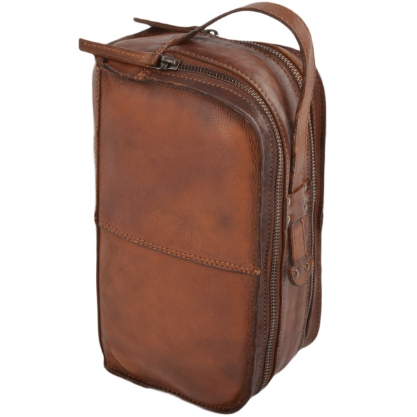 Square ashwood mens leather vintage wash bag rust 7998 p680 2787 image