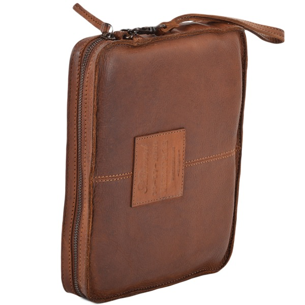 Square ashwood mens vintage leather tablet sleeve clutch bag rust 7991 p673 2757 image