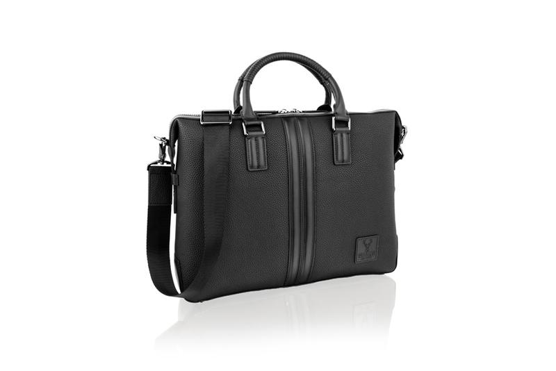 "Woodland Leather 14.0"" Black Tote Bag"