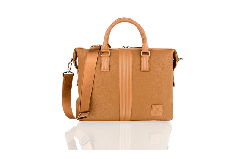 "Woodland Leather 14.0"" Tan Tote Bag"