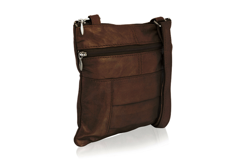 Woodland Leather Brown Small Cross Body Bag