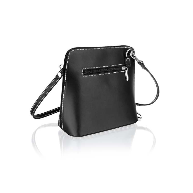 Woodland Leather Black Small Shoulder Bag