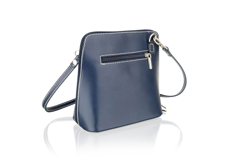 Woodland Leather Navy Small Shoulder Bag