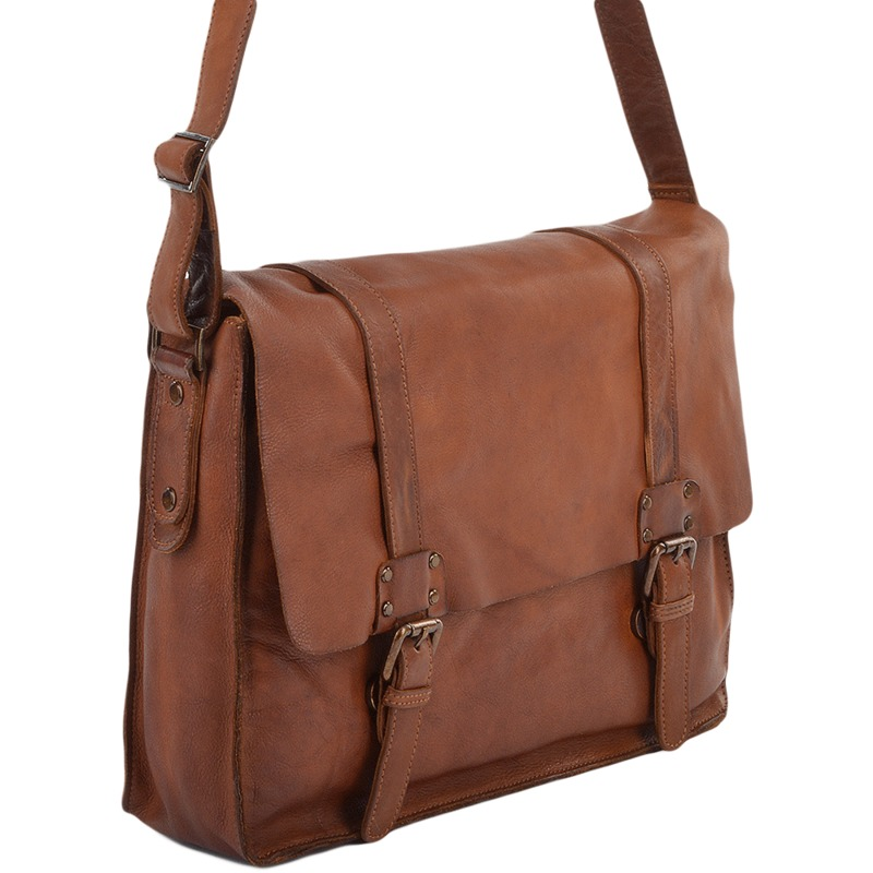 11835ac94b54 Ashwood Cognac Vintage Leather Messenger Bag
