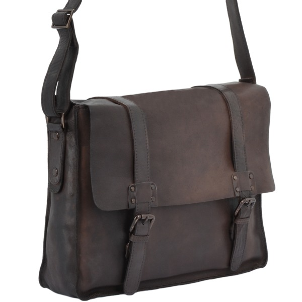 Square ashwood mens vintage leather messenger bag brown 7996 p1344 5951 image