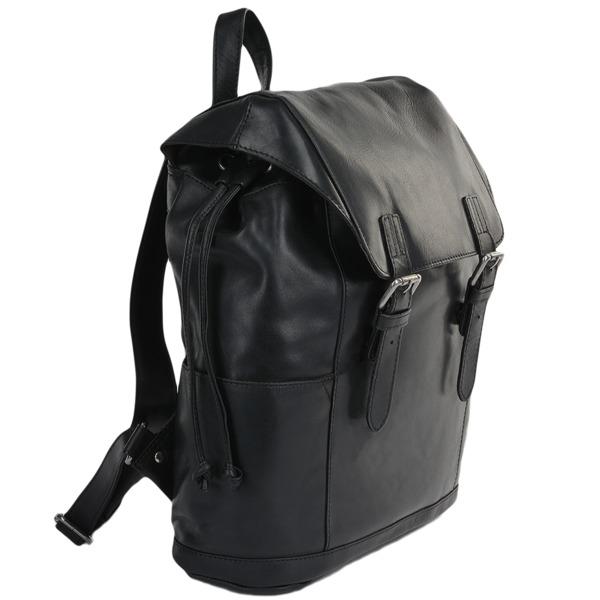 Square ashwood leather rucksack black harvey p620 2499 image