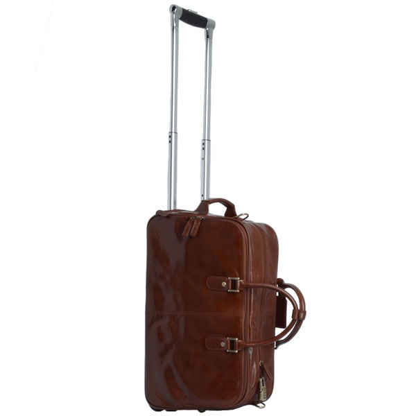 Square ashwood vegetable tanned leather weekend travel holdall chestnut 76660 p1337 5896 image