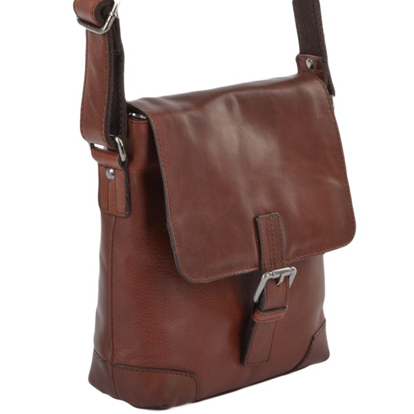 Square ashwood mens 3 pocket luxury small leather flight bag tan jack p660 2692 image