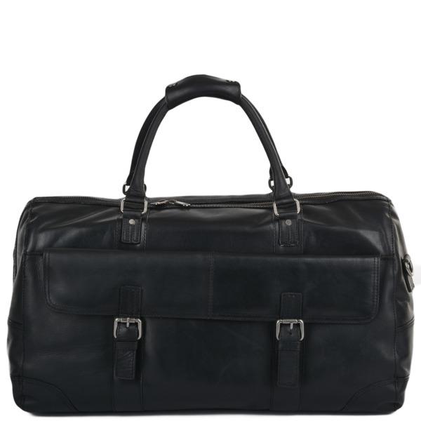 Square ashwood mens leather travel bag black francis p618 2506 image