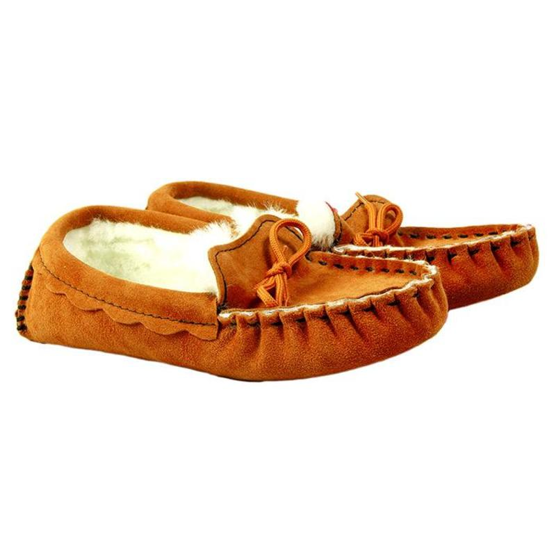 Cognac Sheepskin Moccasin Slippers