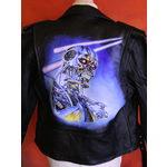 'Terminator' Hand-Painted Leather Jacket