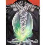 Alien 'Face Hugger' Hand-Painted Leather Jacket