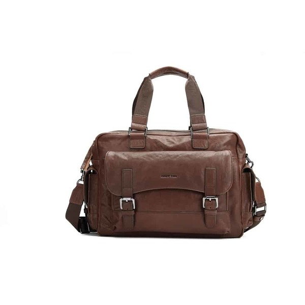 Square brdb79 mens travel holdalls duffle bag brown 38 1