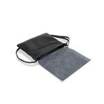 Woodland Black Raw Edge Clutch Hand Bag