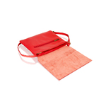 Woodland Red Raw Edge Clutch Hand Bag