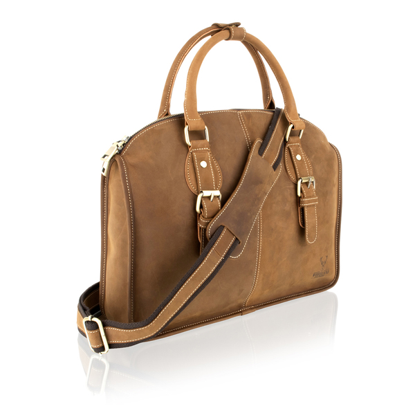 Square brown unisex tote bag genuine ladies tote bag brspm1065r1 2