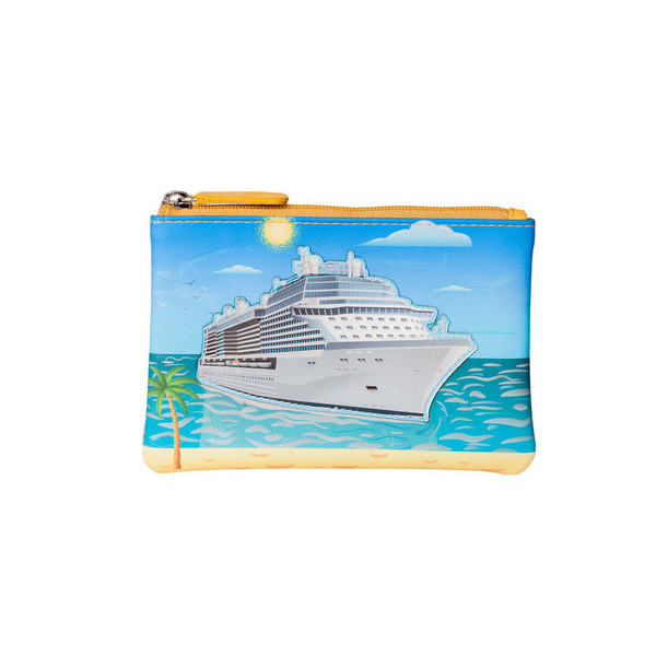 Square mala cruise ship coin purse