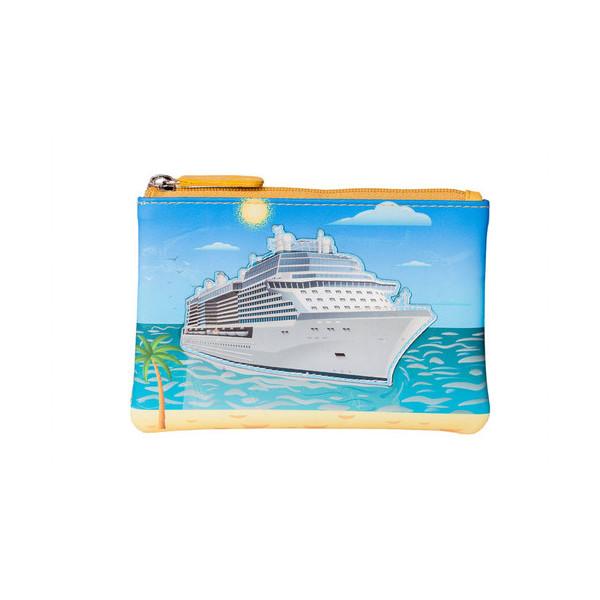 Square mala cruise ship coin purse