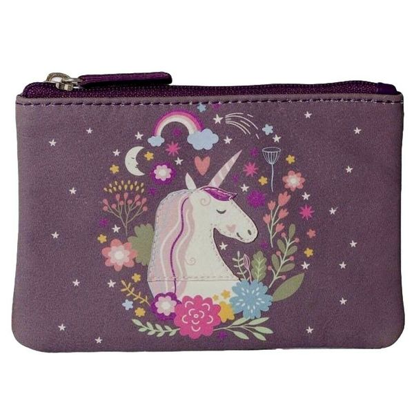 Square mala unicorn coin purse
